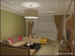 interior glamorous living room chandelier hung on cool ceiling