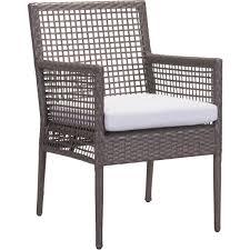Outdoor Modern Dining Chair Zuo Modern 703820 Coronado Outdoor Dining Chair In Woven Cocoa