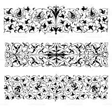 row ornaments in renaissance style stock vector 487905229 istock