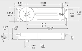 Dorma Overhead Door Closer Rts88 105 Non Hold Open 5mm Extented Spindle Concealed Overhead