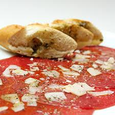 apéritif canapé recette canapé de baguette carpaccio de bœuf et parmesan