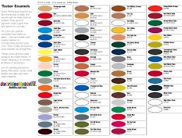 chart color acrylic paint conversion chart