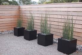 modern garden landscape modern with pots u0026 fence modern garden
