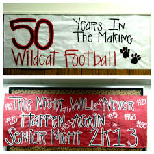 high school senior banners senior just a few more signs we made jakes senior year