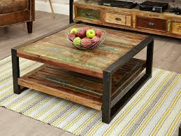 coffee tables dazzling inspiring brown square rustic reclaimed