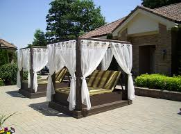 Backyard Canopy Ideas Outdoor Canopy Beds Dansupport