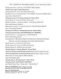 Ballet Resume Ballet In Charlottesville