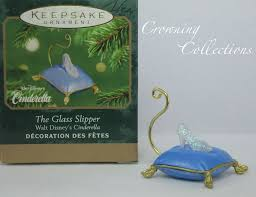 2001 hallmark the glass slipper cinderella ornament disney
