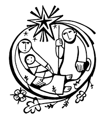 mary joseph and baby jesus silhouette nativity clipart clipartix
