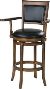 Wood Bar Chairs Bar Stool With Backrest Covers Furniture Brown Wooden Chairs With