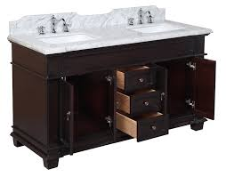 single sink to double sink plumbing kitchen bath collection kbc599brcarr elizabeth double sink bathroom