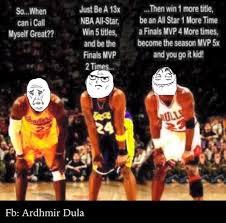 Kobe Lebron Jordan Meme - nba meme team on twitter lebron vs kobe jordan earned not