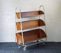 book cart vintage industrial library trolley bring it on home