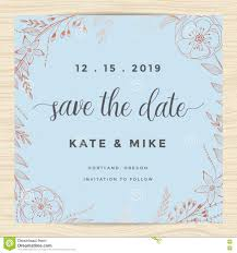 Marriage Invitation Card Templates Free Download Save The Date Wedding Invitation Card Template With Copper Color