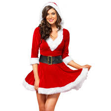 mrs claus costumes mrs claus velvet hooded christmas dress dress