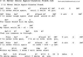 Football Coaching Resume Examples by Jazz Song I U0027ll Never Smile Again Sinatra Frank With Chords Tabs