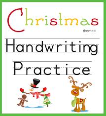 handwriting practice christmas themed one beautiful home