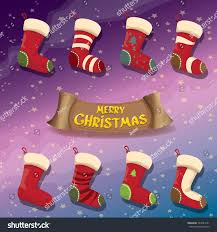vector cartoon cute christmas stocking socks stock vector