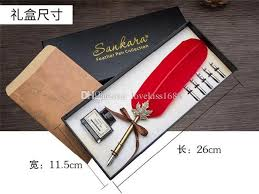 fancy feather pen corporate business gifts suit creative birthday