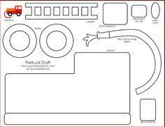 fire truck pattern use the printable outline for crafts creating
