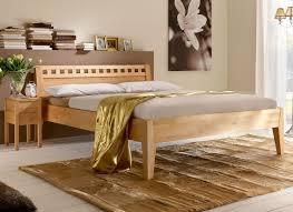 Schlafzimmer Komplett Mit Bett 140x200 Massivholzbett Aus Naturfarbener Buche Oder Kernbuche Wallis