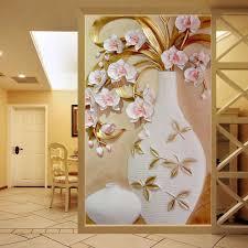 online get cheap wall murals wallpaper modern aliexpress com custom 3d mural wallpaper embossed flower vase stereoscopic entrance wall mural designs home decor wallpaper living room modern