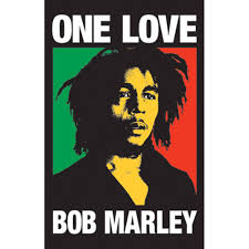 bob marley one love blacklight wall poster