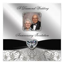 wedding anniversary invitations personalized 60th wedding anniversary invitations