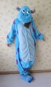 sully monsters inc halloween costume cartoon fleece monsters inc university sullivan pajamas anime