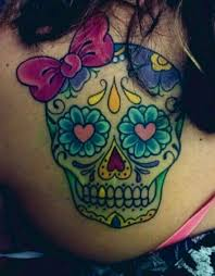 image result for sugar skull small tattoos and piercings