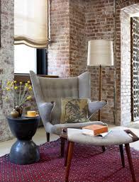 rustic appeal brick wall interiors