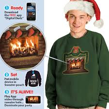 ugly christmas sweater with lights interactive christmas sweaters bring holiday scenes to life ny