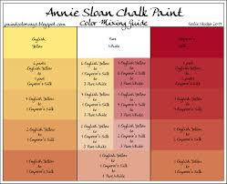 annie sloan chalkpaint mix to make new colors many different