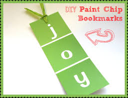 diy paint chip bookmarks paint chips bookmarks and craft