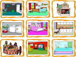 rooms in the house rooms in a house flashcards esl flashcards
