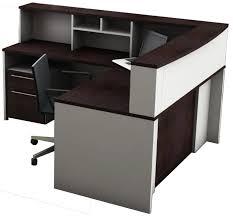 L Reception Desk Ofislite 5 L Shape Reception Desk Suite Set Reviews Wayfair