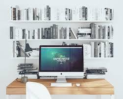 Minimalist Workspace Imac And Minimalist Workspace Mockup Mockupworld