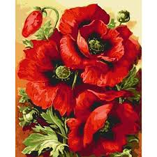 Poppy Home Decor Poppy Flower Painting For Painting By Numbers Frameless Pictures