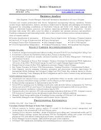 Analyst Resume Examples Business Business Process Analyst Resume