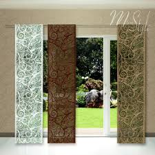 quality net sheer lace window panel blind curtain fly screen slot