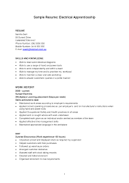 Sample Resume Objectives For Manufacturing by Apprentice Electrician Resume Examples Free Resume Example And