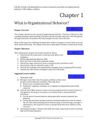 solution manual essentials of organizational behavior 13th edition