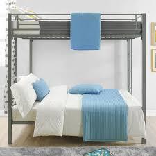 Viv Rae Madeline Full Over Full Bunk Bed  Reviews Wayfair - Full over full bunk beds for adults