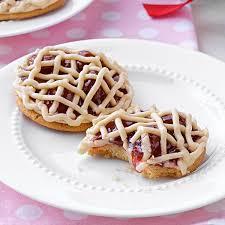 valentines day cookies classic cherry pie cookies recipe taste of home