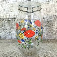 vintage glass canisters kitchen kitchen canisters canister vintage glass canister mid