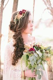 coiffure mariage boheme coiffure mariage cheveux longs et mi longs en 62 idées