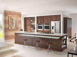 modern kitchen with breakfast bar by starmark cabinetry zillow modern kitchen with kitchen island flush undermount sink one wall limestone