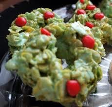 christmas green cornflake wreaths recipe recipetips com