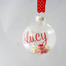 Baby S First Christmas Silver Bauble by Best 25 Personalised Christmas Baubles Ideas On Pinterest
