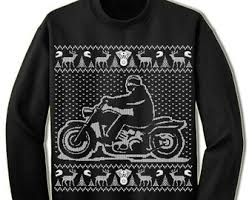 Ugly Christmas Sweater Party Poem - motorcycle sweater etsy